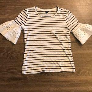 Ann Taylor stripped blouse